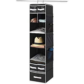 Hanging Drawers Diaper Caddy Organizer Baby Nursery Closet Dorm Room Closet with Foldable Cube Storage Bins 9 Shelf Hanging Closet Organizer with 5 Drawer Organizers Slotted Storage Baskets