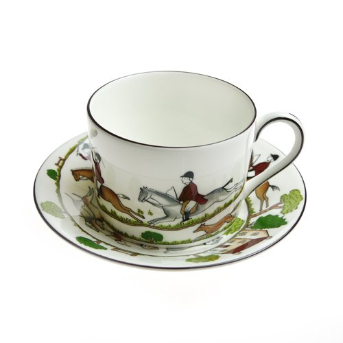 Wedgwood ( Wedgwood ) Hunting scene tea cup and saucer Imperial [ parallel import goods ]