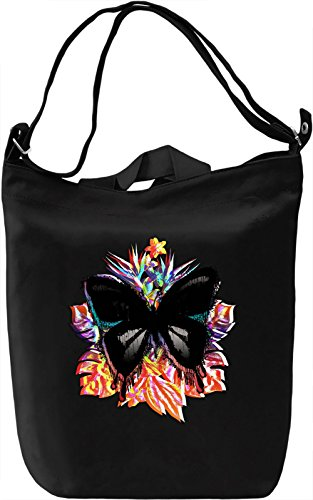 Tropical Butterfly Borsa Giornaliera Canvas Canvas Day Bag| 100% Premium Cotton Canvas| DTG Printing|