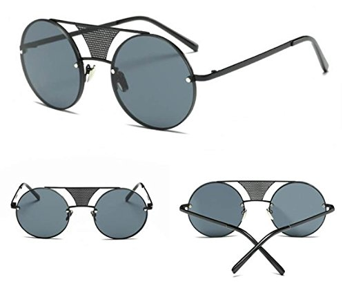Aoligei Lunettes de soleil lunettes de soleil punk fashion vapeur métallique Lunettes de soleil rétro lunettes lunettes de soleil hommes et femmes BHGxKCVSTF