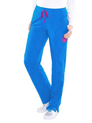 29 Heather (Smitten Women's Hottie Sleek Fit Scrub Pant Medium Tall Heather Blue)