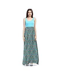 Ya Lida Women's Sexy Sleeveless print dress