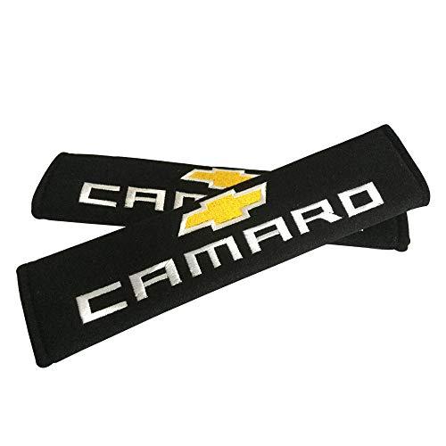 Sinaga 2pcs Camaro Car Embroidered Cushion Badge Comfortable Seat Belt Cover