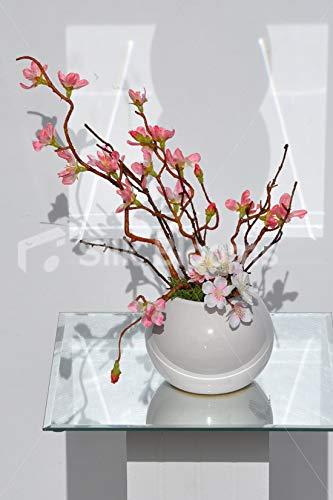人工ピンクシルク桜フラワーアレンジメント プリザーブドグリーンモス B07H8H5TL7