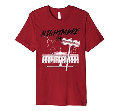 Anti Halloween Costumes (Mens Nightmare - Halloween Costumes T-Shirt Anti Trump Resist Tee 2XL Cranberry)