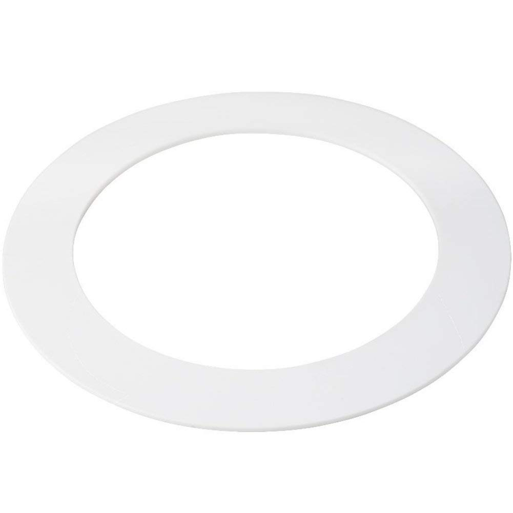 75 Pack White Plastic Trim Ring for 8'' Inch Recessed Can Down Light Oversized Lighting Fixture