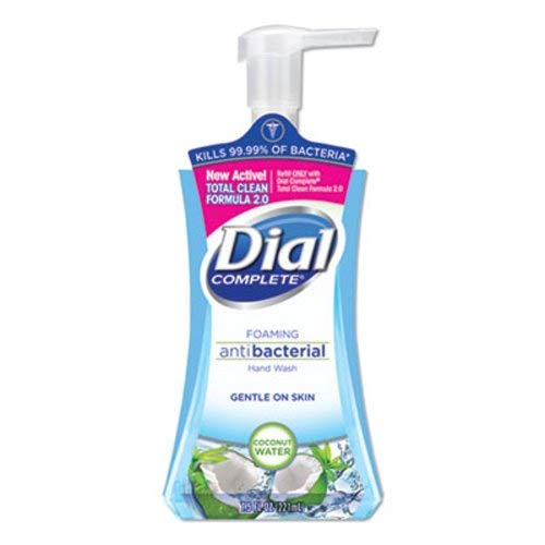 Dial Professional Antimicrobial Foaming Hand Soap, Coconut Waters, 7.5 oz Pump Bottle - Includes eight bottles. ()