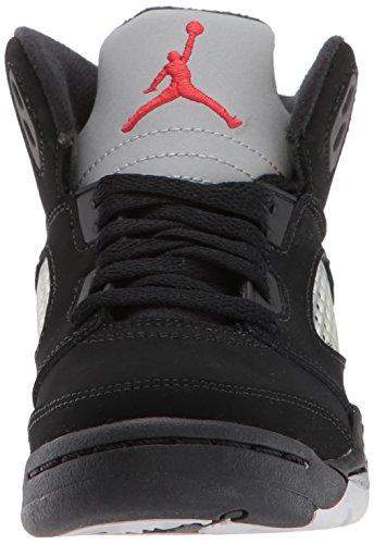 Nike Espadrilles 5 Basket Gar noir metallic Noir ball Jordan Rouge Bp On Feu Retro Silver De rxpBrwqIS