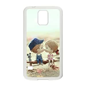 Samsung Galaxy S5 Cell Phone Case White cartoons Love Couple Animated 007 YWU9247681KSL