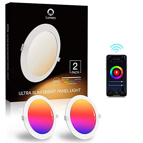 Downlight Led Techo Inteligente Ultrafina 18W 1440LM, Lumary LED Empotrable Techo con Caja de Conexiones Controlada por…