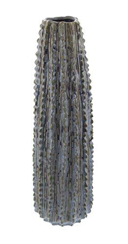 Deco 79 62176 Textured Ceramic Ribbed Cactus Vase, 20