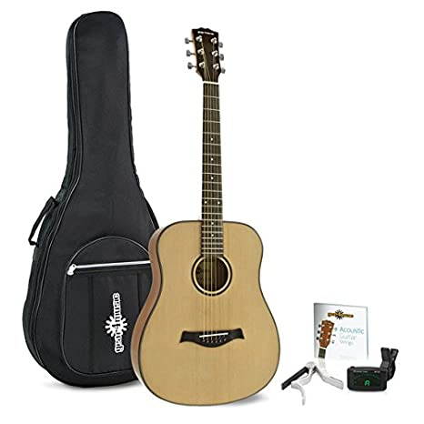 Guitarra Acustica de 3/4 de Gear4music + Pack de Viaje: Amazon.es ...
