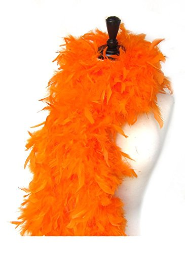 SACASUSA (TM) 100g Turkey Feather BOA Brand New in POLY BAGS ! Turkey Feather Chandelle Boa 6 feet long (Orange)