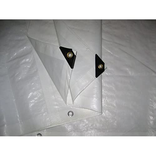 Wholesale 10 Ft. X 30 Ft. Heavy Duty 6 Oz. White Tarp 11-12 Mil Thick