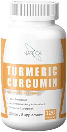 Natrica Turmeric Curcumin with Bioperine 1500mg, 120 Count