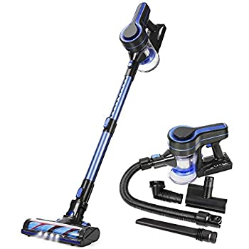 Image of APOSEN Cordless Vacuum Cleaner Upgraded Brushless Motor 5 in 1 Stick Handheld Vacuum 18KPa Powerful Suction 250W for Home Hard Floor Carpet Car Pet H251 Blue … (Blue) Home and Kitchen