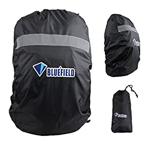 Triwonder 15L to 80L Waterproof Storage Backpack Rain Cover with Reflective Strip for Hiking Camping Traveling (Black, S (15L-35L))