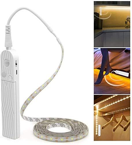 LED Under Cabinet Lighting Motion Sensor, CFGROW 10Ft Four Modes Bed Stairs Wardrobe Lamp Tape, Waterproof 5V USB LED…