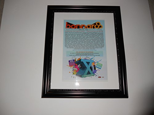 "Large Framed Bonnaroo 2011 Poster,Eminem,Arcade Fire,Black Keys RARE 24"" by 20"""