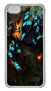 TYHde ipod Touch4 Case Abstract Blue Lights PC Custom ipod Touch4 Case Cover Transparent ending
