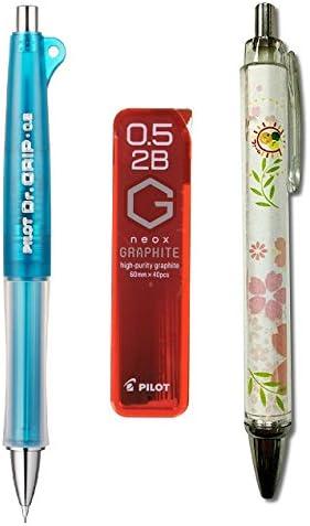 L Pilot Dr Grip Full Black 0.7mm Ballpoint pen and 0.5mm Mechanical Pencil