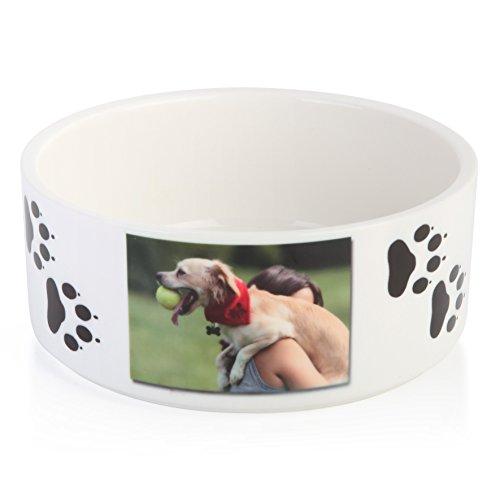 RitzPix Pet Dog Cat Bowl Customizable White Ceramic - Perfect Personalized Gift (Homemade Halloween Gift Ideas)
