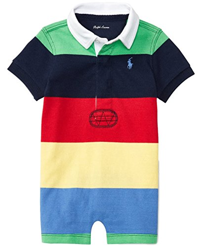 Ralph Lauren Baby Boys Striped Cotton Rugby Shortall Multi