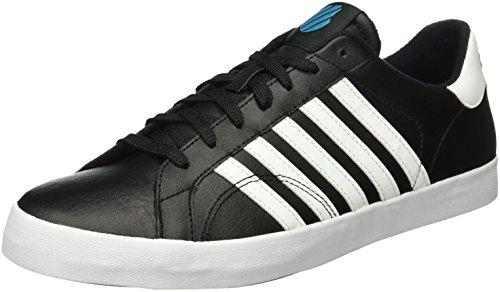 K-Swiss Belmont So, Baskets Basses Homme Noir (Black/White/Algeria Blue 061)