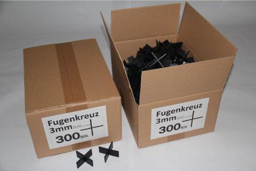 Fugenkreuze 3mm, Bauhöhe 20mm, 300 Stück im Karton