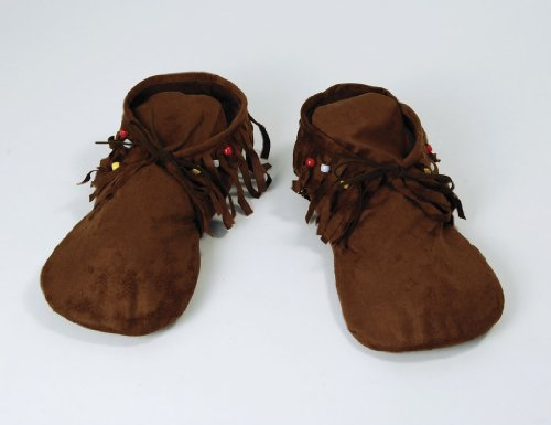 Brown Ladies Hippy Indian Moccasin Sandals