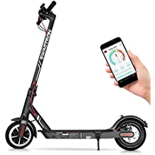 """Swagtron Swagger 5 Elite Portable and Foldable Electric Scooter (Version 2), Top Speed at 18 MPH, 8.5"""" Tires with iOS and Android App for Cruise Control, Headlight, Speedometer, Includes Phone Mount"""