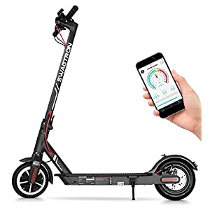 "Swagtron High Speed Electric Scooter with 8.5"" Cushioned Tires, Cruise Control and 1-Step Portable Folding – Swagger 5 2"