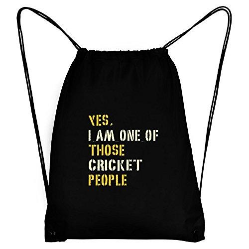 Teeburon YES I AM ONE OF THOSE Cricket PEOPLE Sport Bag by Teeburon