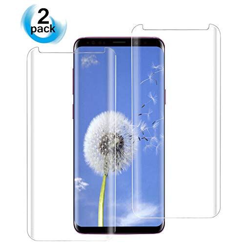 Galaxy S9 Screen Protector, 3D Screen Coverage Glass [Easy to Install][9H Hardness][HD-Clear][Case Friendly][Anti-Fingerprint] Tempered Glass Screen Protector Compatible Samsung Galaxy S9 [2 Pack] by AsianiCandy