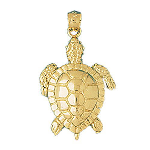 14k Yellow Gold Turtle Pendant (17 x 30 mm) 14k Yellow Gold Turtle Pendant