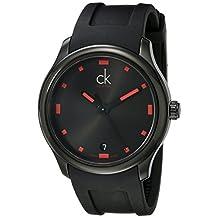 Calvin Klein Men's K2V214DZ Visible Analog Display Swiss Quartz Black Watch