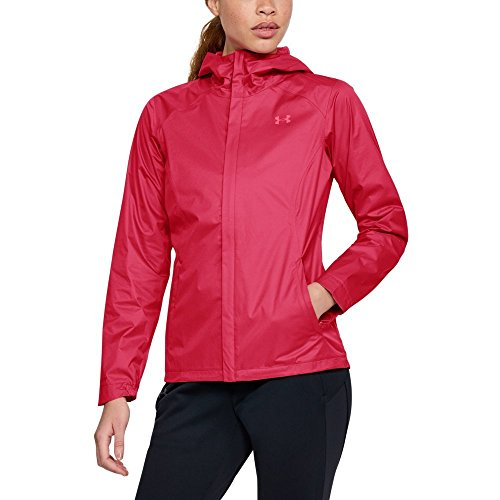 Under Armour Women's Overlook Jacket, Hollywood/Pink Shock, (Under Armour Pink Jacket)