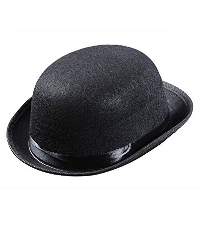 Price comparison product image YOUTO Child Kids Magic Bowler Hats Caps Headwear for Fancy Dress Costumes Black