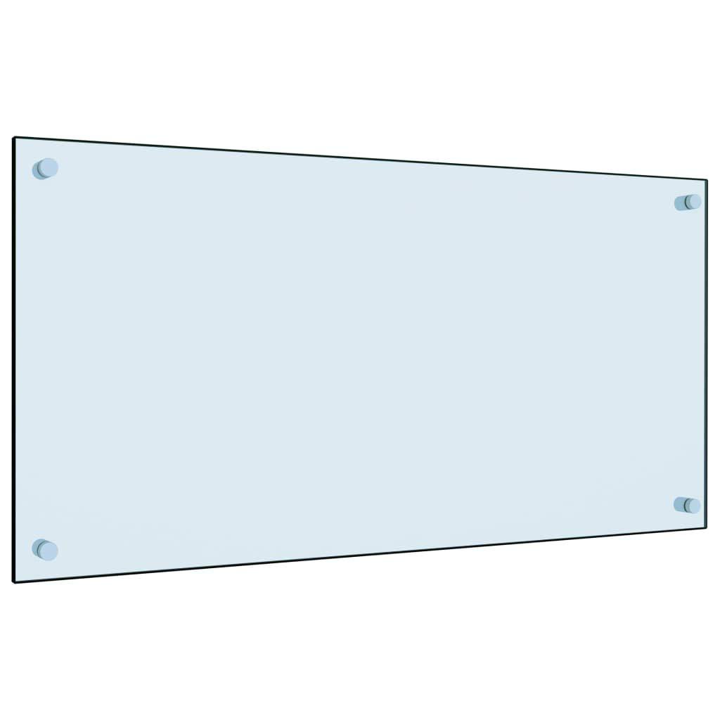 Tidyard Kitchen Backsplash Tempered Glass Splashback Heat Resistant Cooker Splashback Protector Panel 70x40 cm