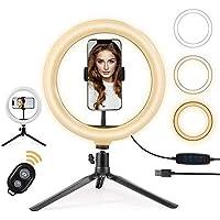 Pierścień świetlny LED 25 cm ze statywem i uchwytem na telefon Selfie Ringlight do transmisji na żywo i YouTube Video…