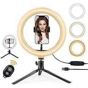 Aro de Luz de escritorio para maquillaje