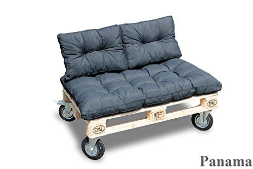 Panama Coussin de palette Coussin pour canapé 60x43cmx15cm anthracite