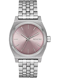 Ladies Nixon Medium Time Teller Lavender Dial Stainless Steel Bracelet A11302878