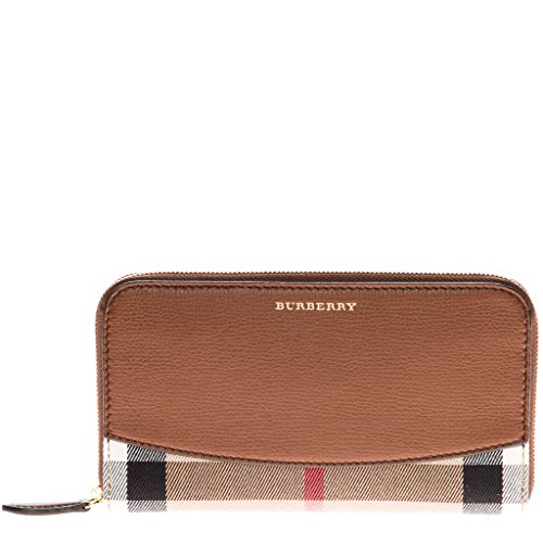 Burberry Women's House Check Zip Around Wallet Brown
