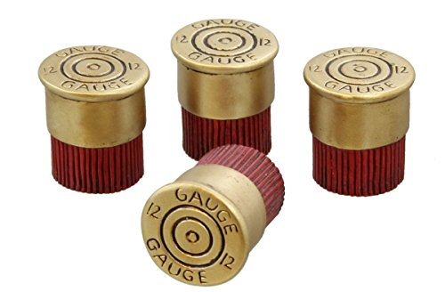 4 Pc Set - 12 Gauge Shotgun Shell Drawer Cabinet Pull Knob (Pull Drawer Knob Bear)
