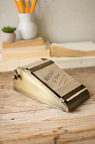 - Kalalou Desk Top Note Roll in Antique Brass Dispenser
