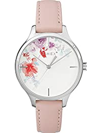 Women's TW2R82200 Crystal Bloom Pink/White Floral Accent Leather Strap Watch