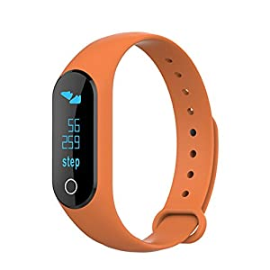TOLEDA Fitness Tracker, W25B Activity Wristband-Bluetooth Wireless Smart Bracelet, Waterproof Pedometer Activity Tracker Watch for IOS & Android Smartphone by Chige (Orange)