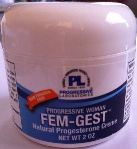 Progressive Labs Fem-GestTM progestérone naturelle crème 2 oz