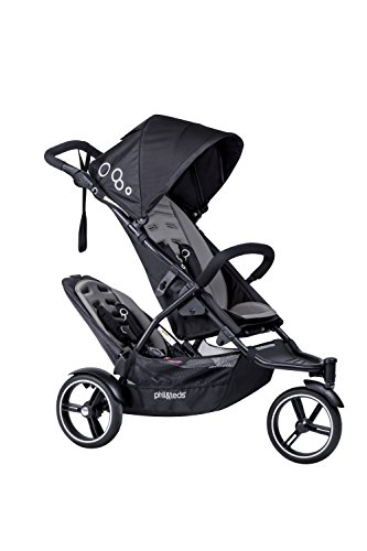 phil&teds Dot Inline Stroller with Second Seat, Graphite by phil&teds